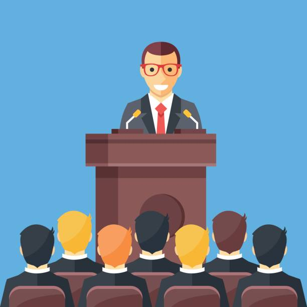 Best Man Giving Speech Illustrations, Royalty.