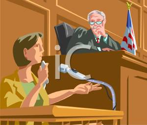 Woman In a Courtroom Giving a Testimony.