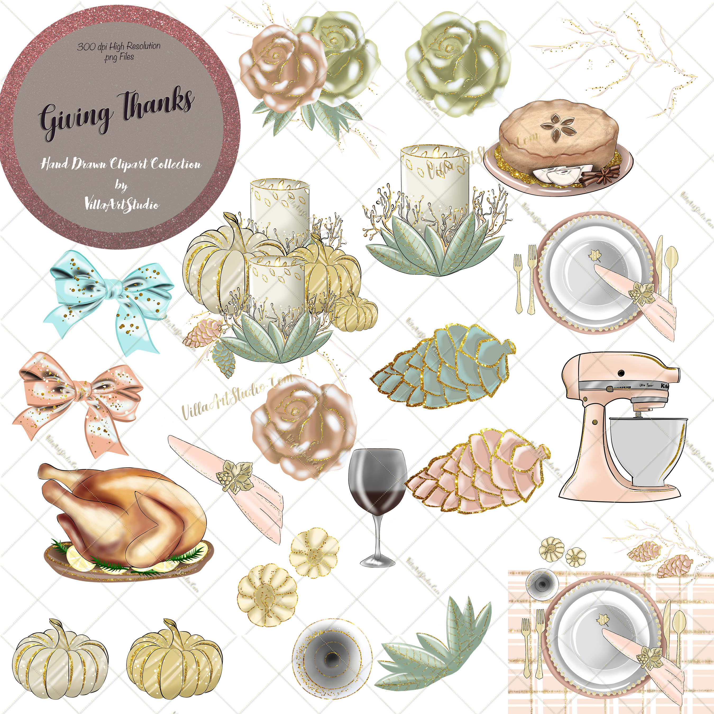 Giving Thanks Clipart Collection.