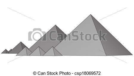 Vectors Illustration of Pyramids From The Giza Plateau.