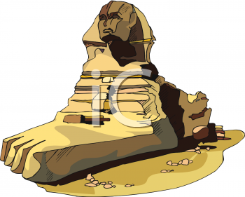 Royalty Free Clipart Image: Great Sphinx of Giza.