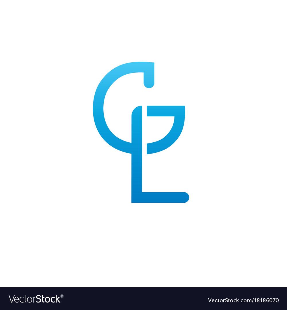 Monogram letters g l logo design template.