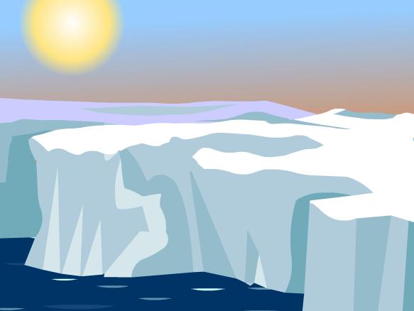 Glaciers Clipart.