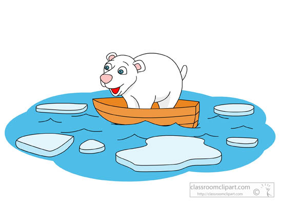 Ice melting global warming clipart.
