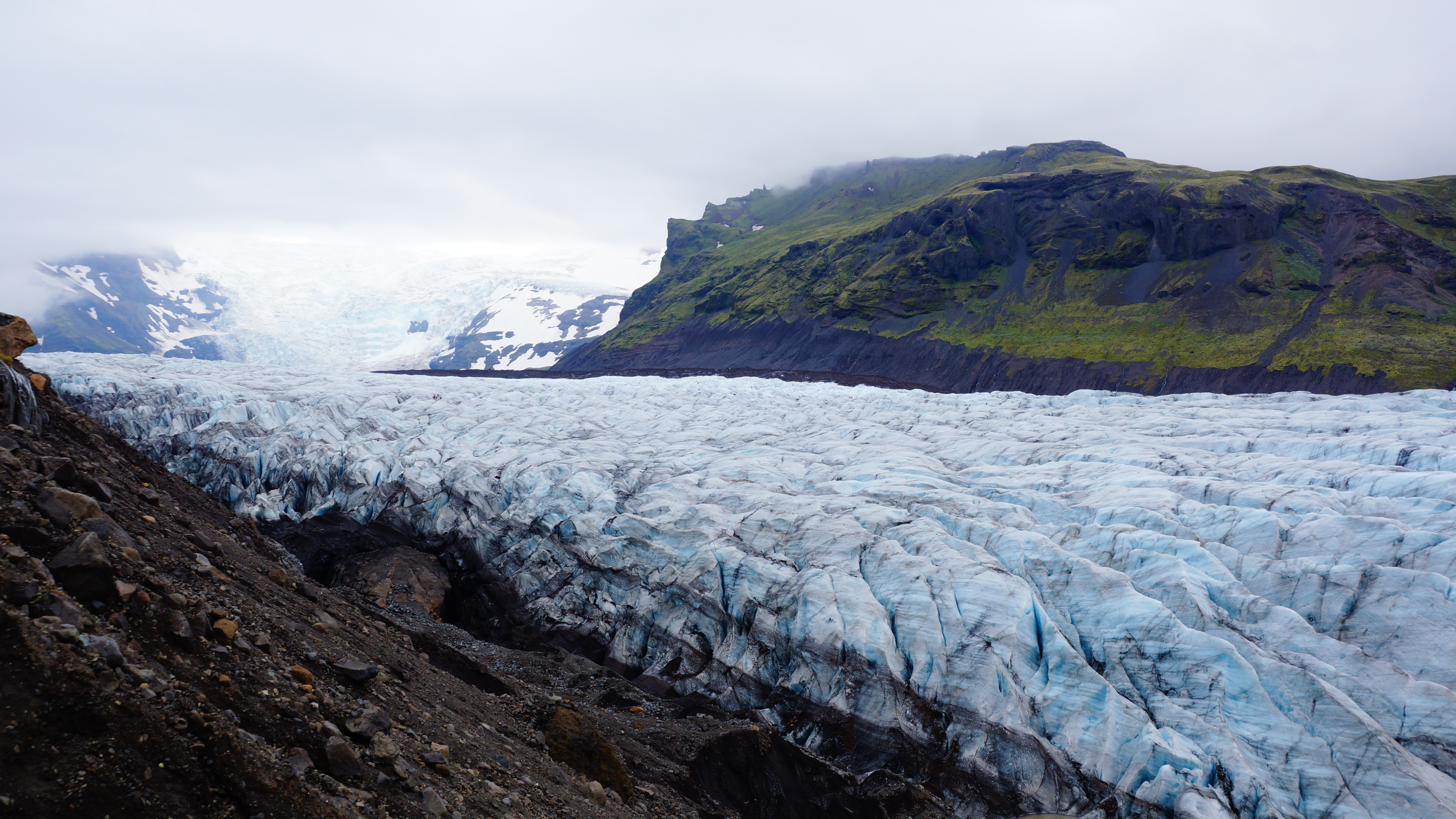 Glaciers in Iceland.