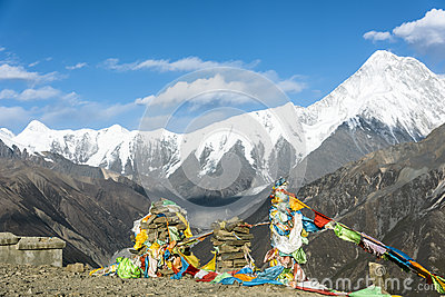 Himalayas Mountains In Winter Royalty Free Stock Image.
