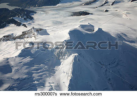 Stock Images of Aerial view of glaciated Mount Douglas volcano.