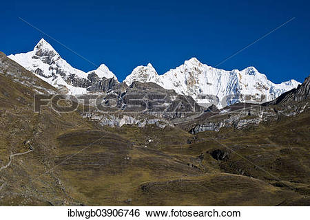 """Stock Images of """"Glaciated, snow."""