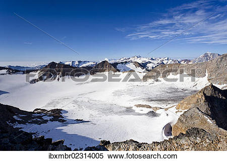 """Stock Image of """"View during the ascent to the peak of Hoher."""
