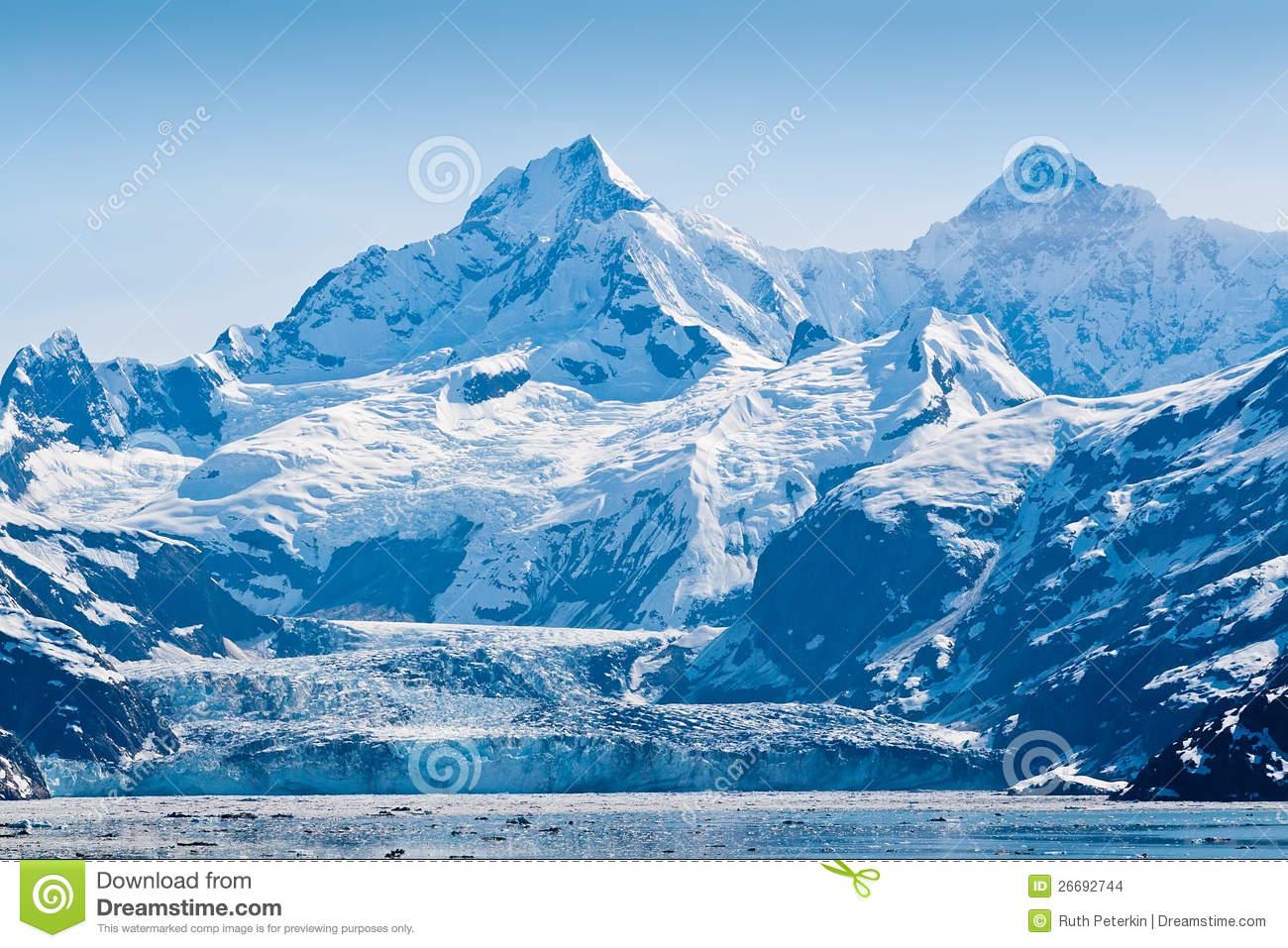 Glacier Bay National Park In Alaska Stock Images.