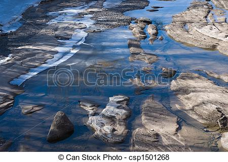 Pictures of Rocky stream bed.