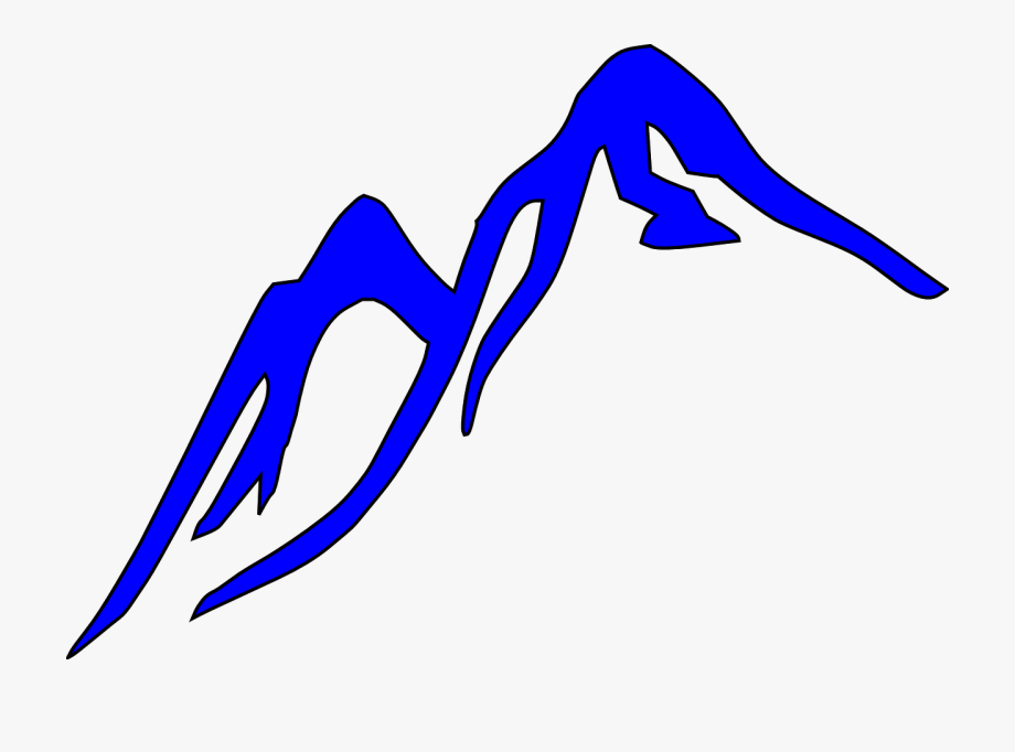 Free Vector Graphic Mountain Outline Blue Glacier Image.