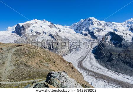 Monte Rosa Glacier Stock fotos, billeder til fri afbenyttelse og.