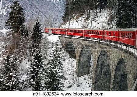 Stock Photo of Switzerland, The Graubunden canton, the glacier.