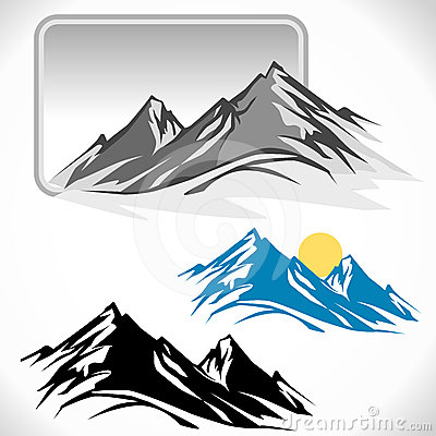 Mountain Peak Clip Art.
