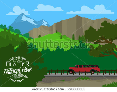 Glacier National Park Stock Vectors, Images & Vector Art.