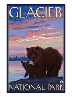 Glacier national park clipart.