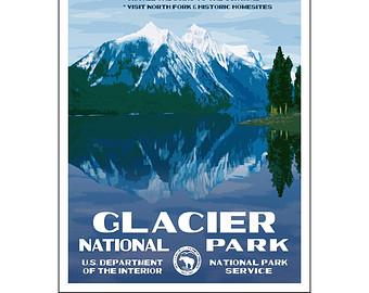 The National Park Poster Project. Vintage by NationalParkPosters.