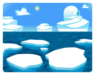 Search photos cartoon, Category Landscapes > Water > Glaciers.