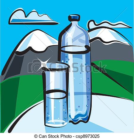Clipart Vector of mineral water csp8973025.