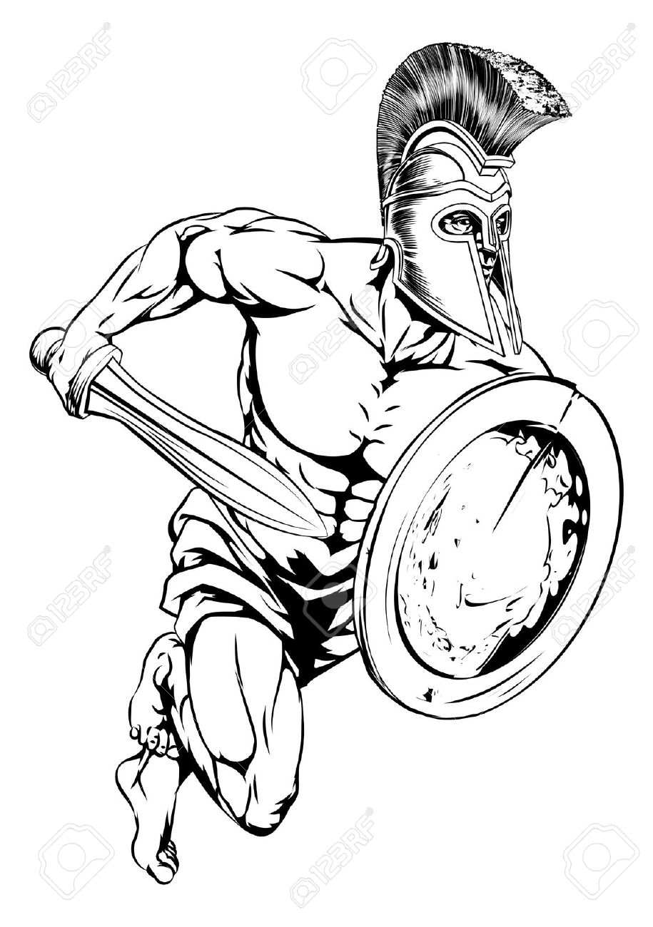 4,202 Gladiator Stock Vector Illustration And Royalty Free.