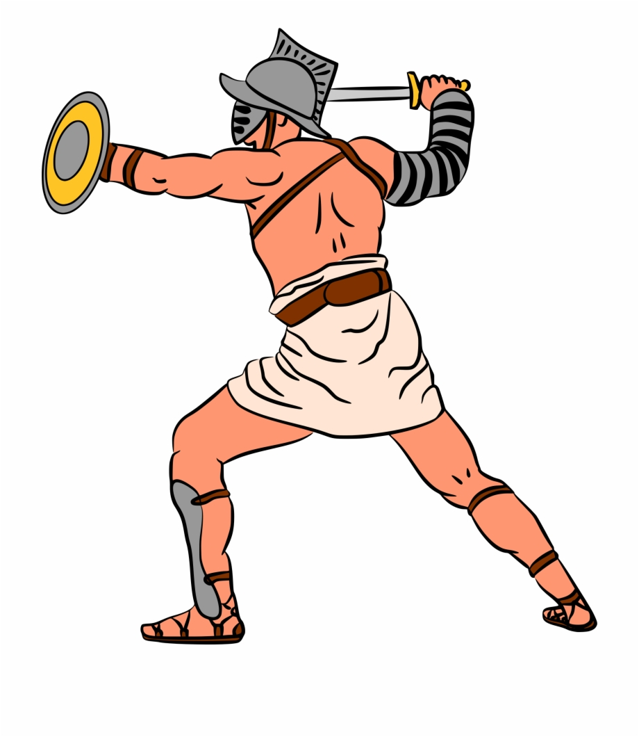 Image Royalty Free Library Ancient Gladiator Cartoon.