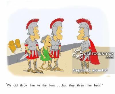 Gladiatorial Games Cartoons and Comics.