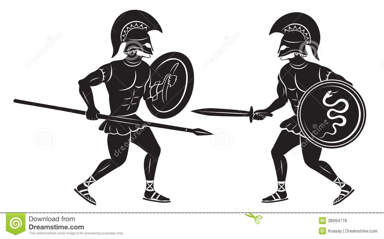 Gladiators Stock Illustrations.