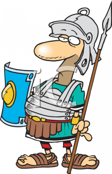 Royalty Free Clipart Image: Cartoon of a Gladiator.