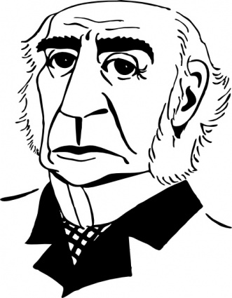 William Gladstone clip art Free Vector.