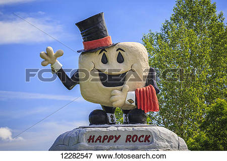 Picture of Happy rock; Gladstone, Manitoba, Canada 12282547.