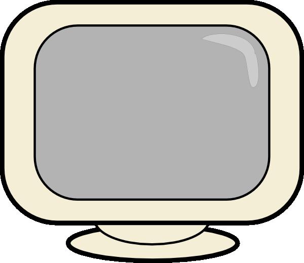 Computer glare screen clipart.