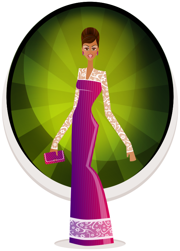 Free Clipart: Glamour Girl.