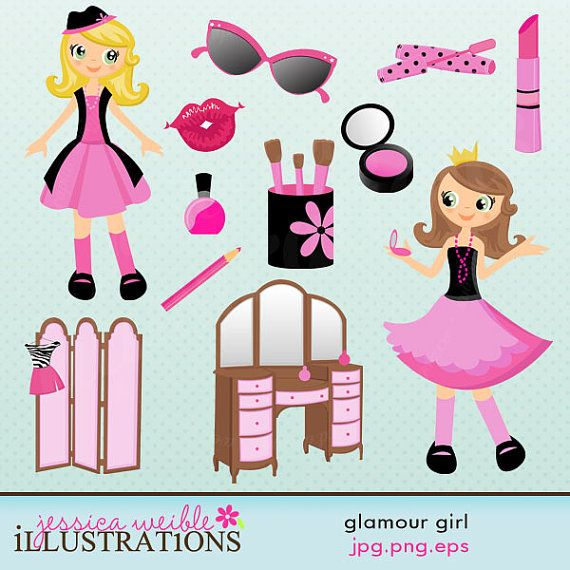 Glamour party clip art.