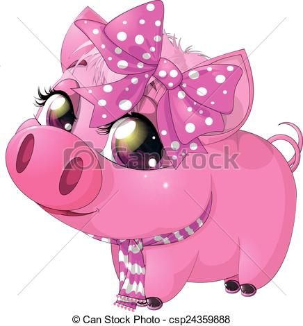 Vector of glamour pig.