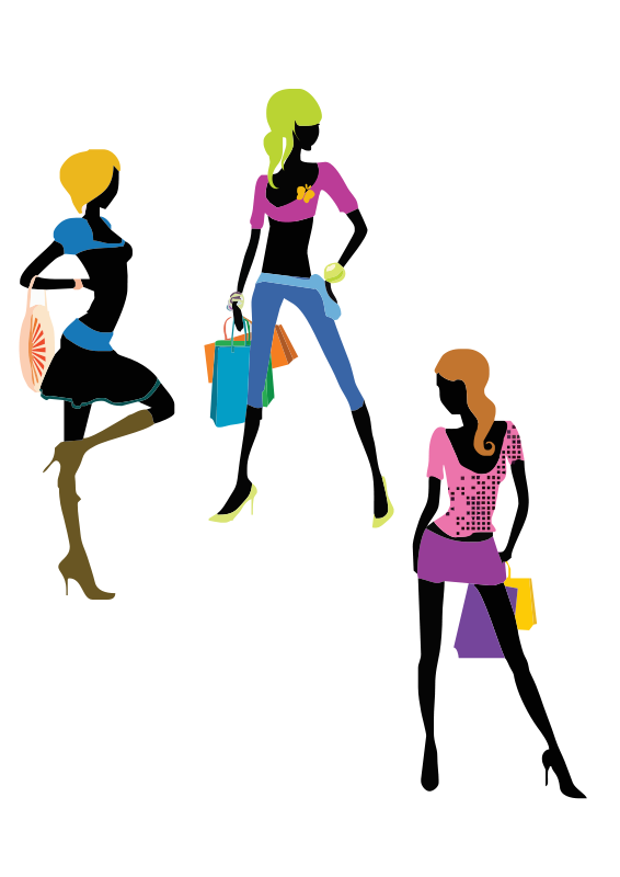 Free Clipart: Glamour girls.