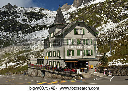 """Picture of """"Hotel Klausenpasshoehe on the Klausstrasse road."""