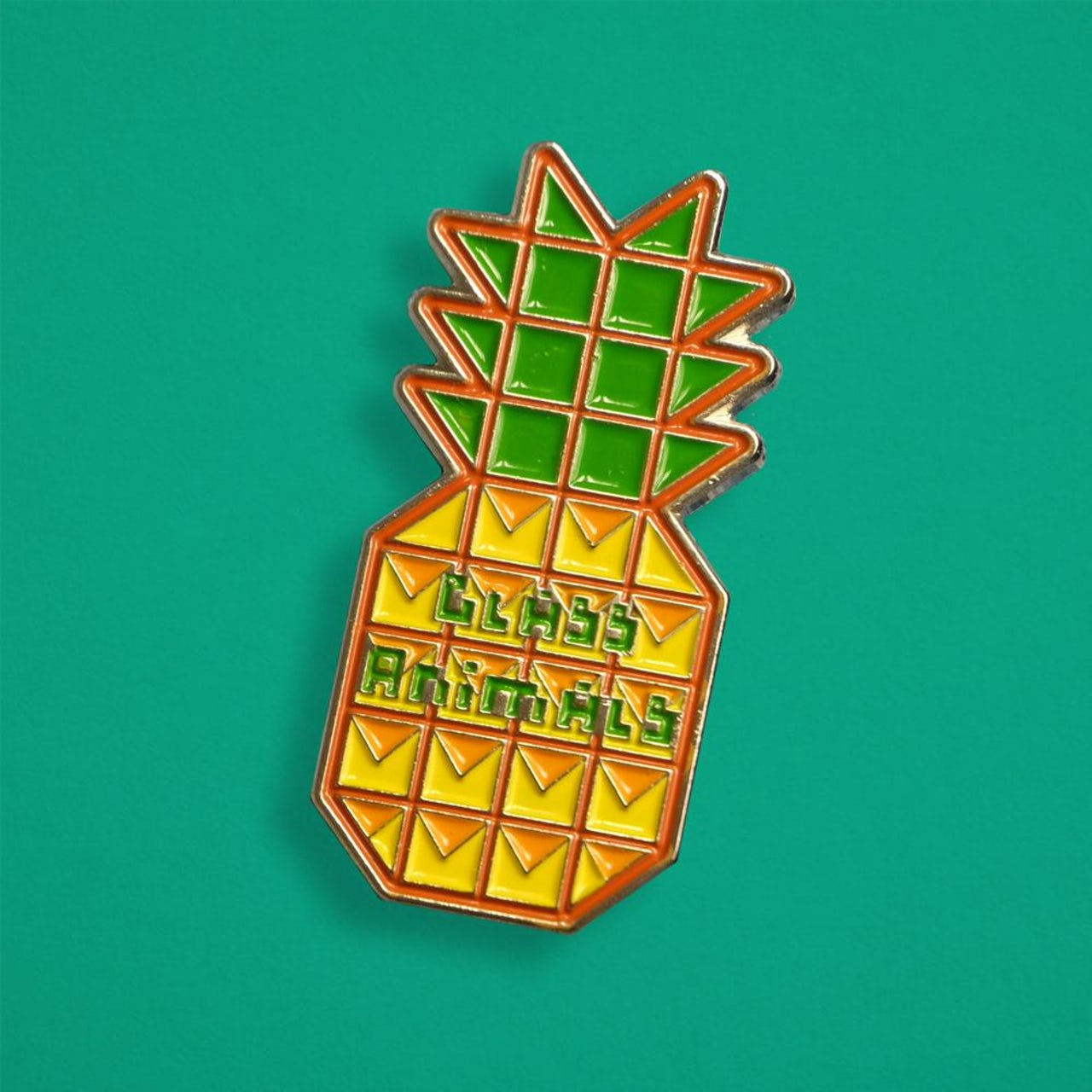 Glass Animals PINEAPPLE PIN BADGE.