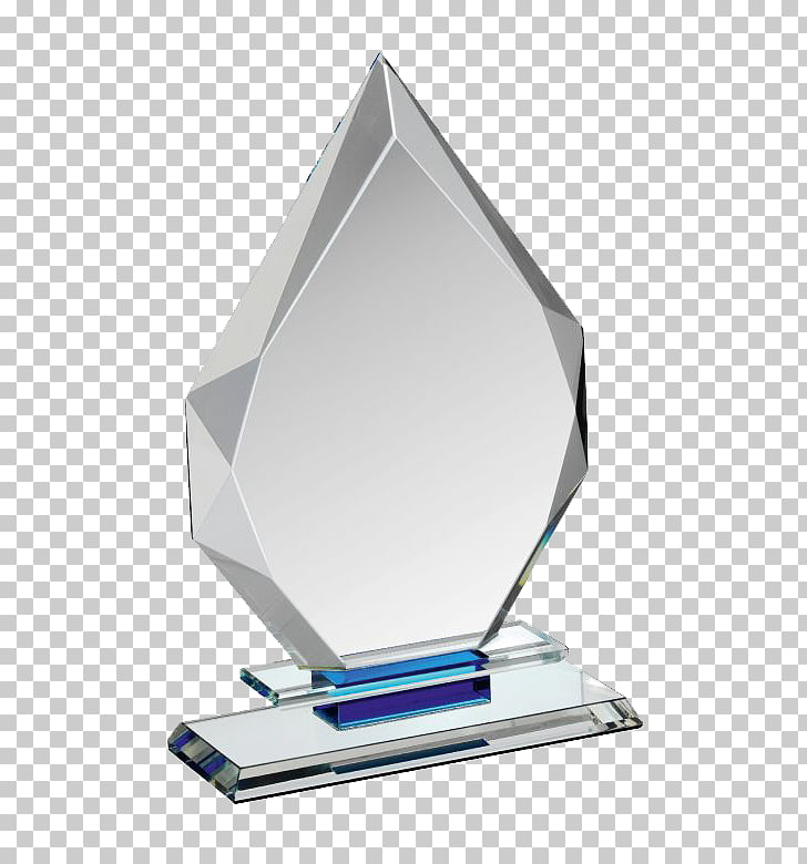 Glass Award Trophy Crystal, Glass Award Photos, gray diamond.