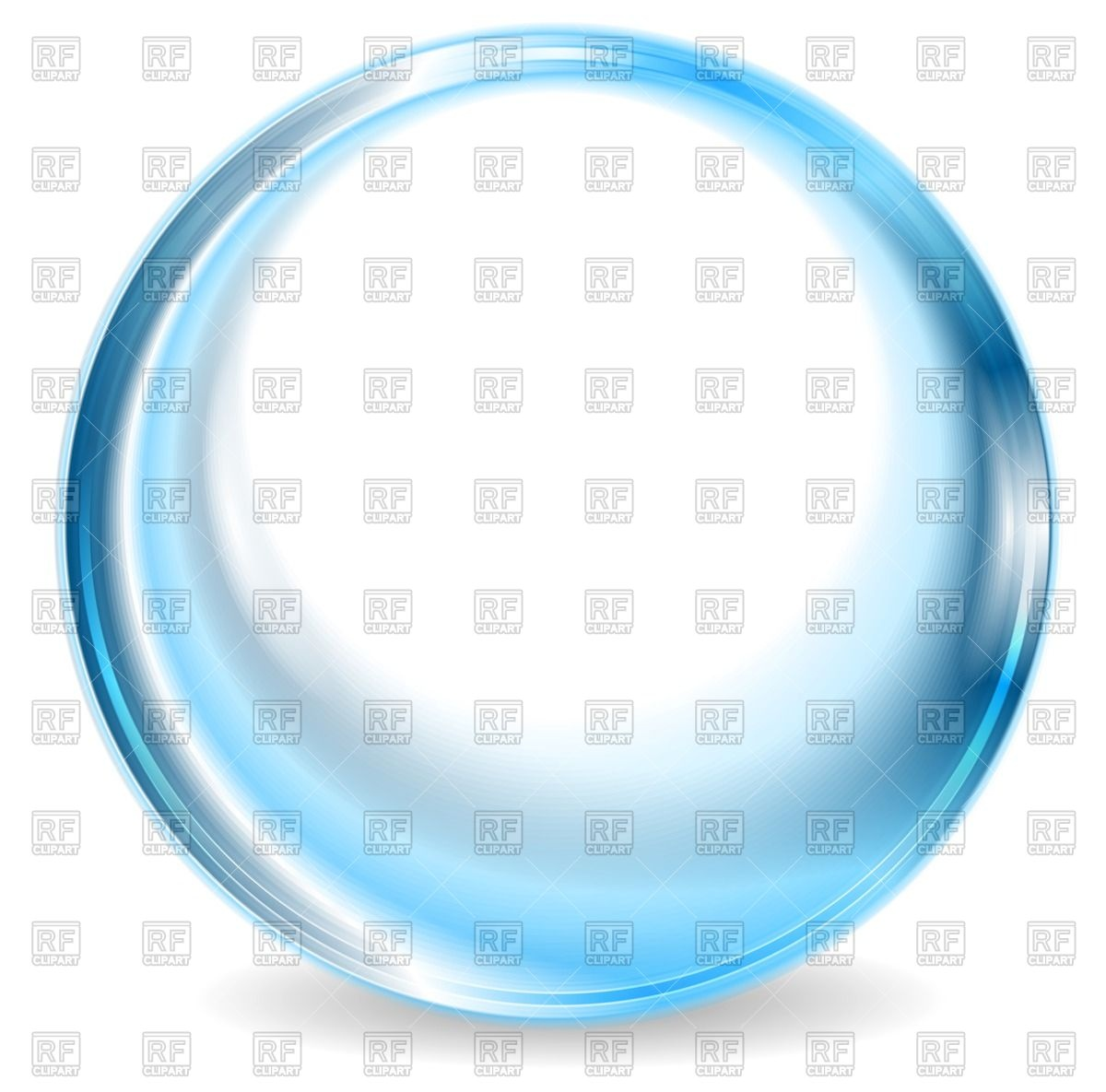 Blue glass ball Vector Image #72072.