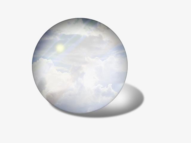 Transparent Glass Ball, White, Glass, Glass Ball PNG Transparent.