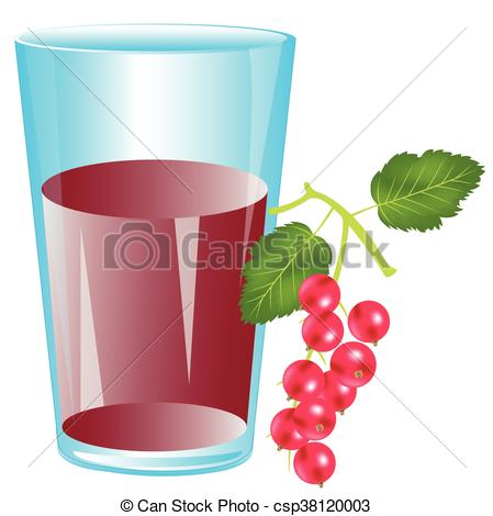 Vector Clipart of Juice from berry wood sorrel.