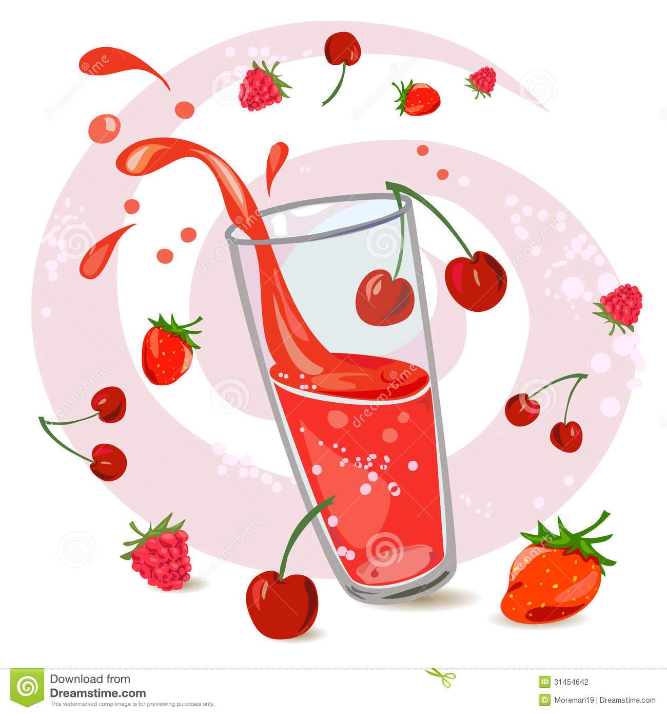 Berry Juice Stock Photography.