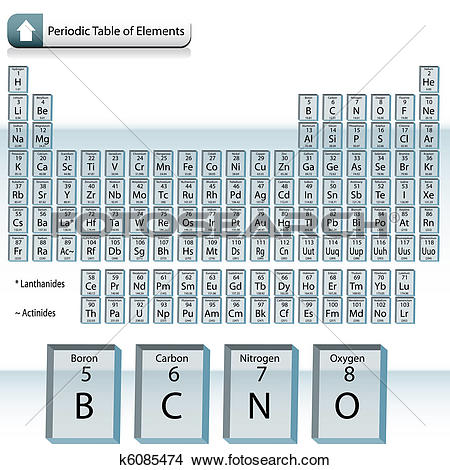 Clipart of Glass Block Periodic Table of Elements k6085474.