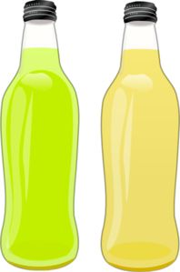 Glass bottle clip art.