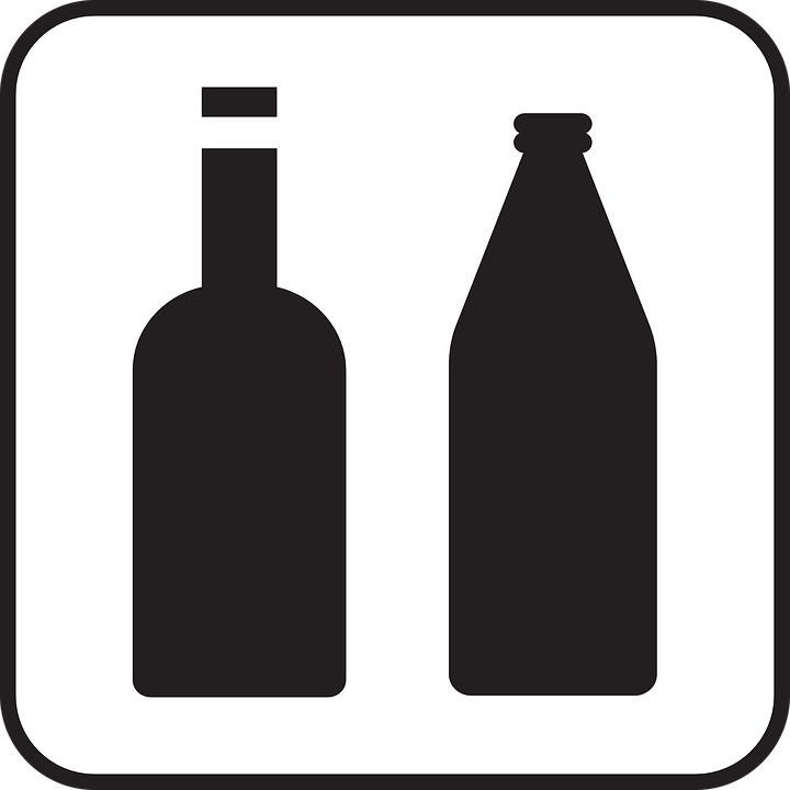 Free vector graphic: Bottles, Glass, Drinking, Wine.