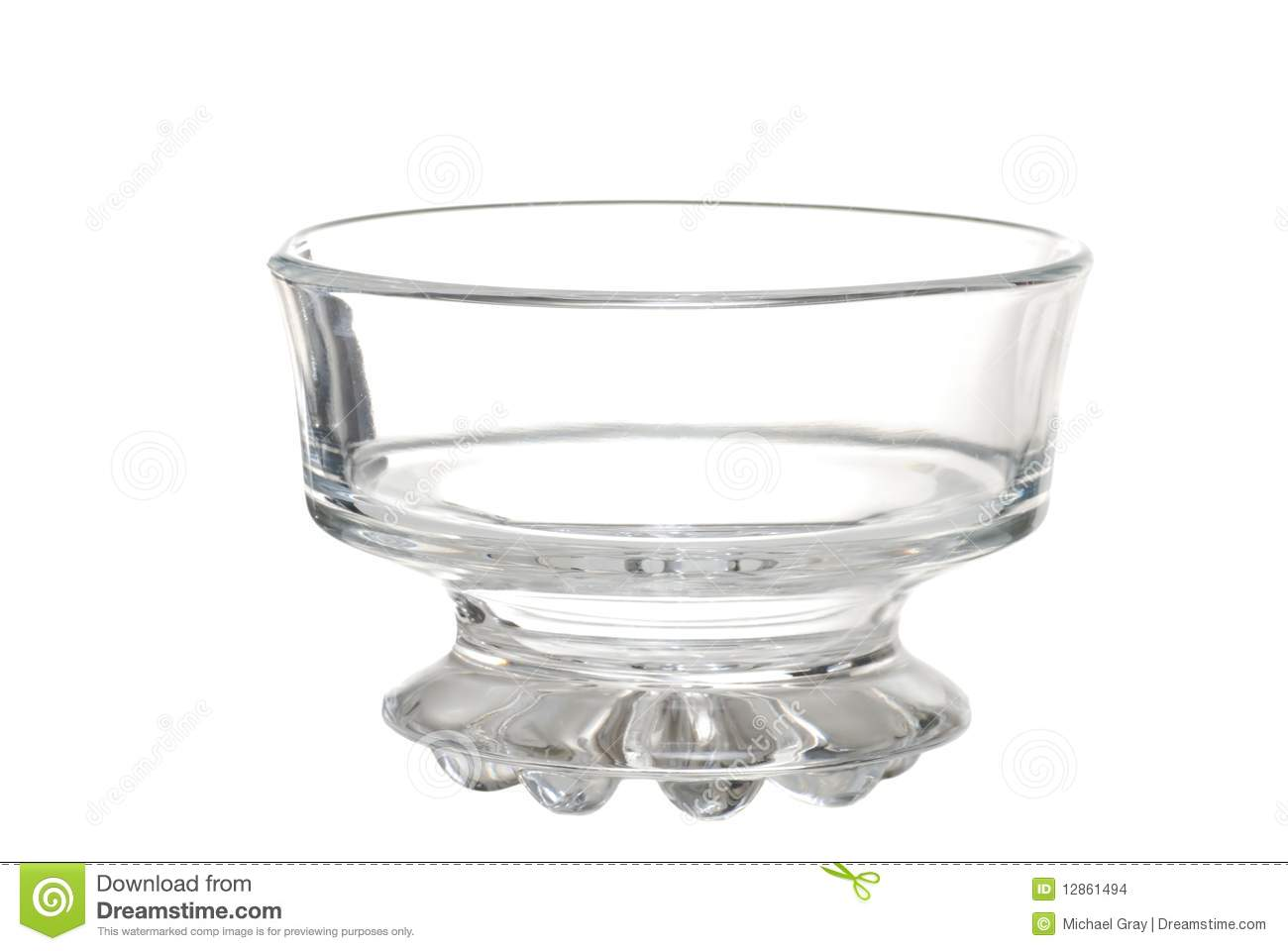Ice Cream In Glass Bowl Royalty Free Stock Images.