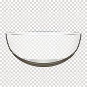 Glass Bowl Clip Art, Vector Glass Bowl.