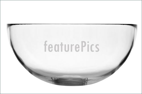 Empty Glass Bowl Image.