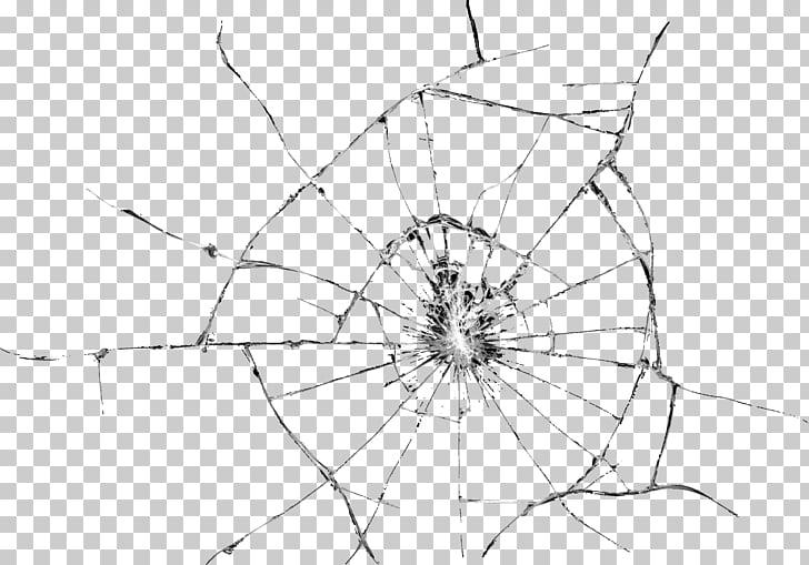 Glass Window , Broken Glass Effect Transparent , closeup.